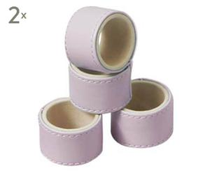 Set de 8 servilleteros de cuero sintético – rosa