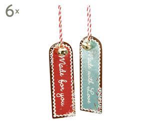 Set de 12 etiquetas regalo Kira - 9 cm