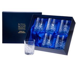 Whiskey-Kristallgläser London, 6 Stück, 210 ml
