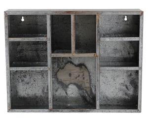 Estantería de pared de madera DM – gris envejecido