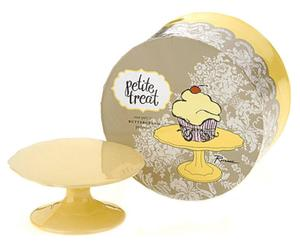 Mini plato para cupcakes en porcelana - amarillo
