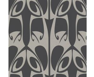 Papel pintado Richard, negro y plateado – 52x10