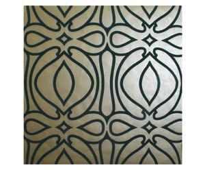 Papel pintado tejido no tejido Jill, dorado y negro – 52x10