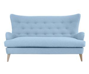 Zweieinhalb-Sitzer-Sofa Claire, hellblau, B 171 cm