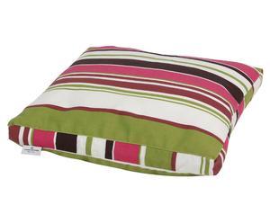 Cojín de suelo Sara, rosa verde y blanco - 44x44