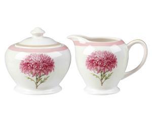 Set de azucarero y lechera en porcelana Dorothy
