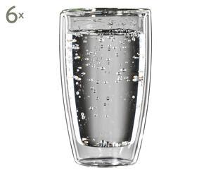 Set de 6 vasos térmicos de agua Coffemat