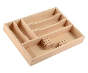Organizador de cubiertos en madera de haya Larry