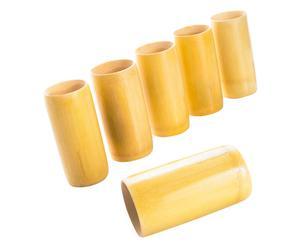 Set de 6 vasos en bambú Leyla