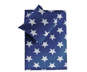 Set de edredón y funda de almohada reversibles Esmy, azul - cama de 90 cm