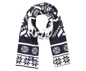 Bufanda de lana Rod, azul marino y blanco - 25x180cm