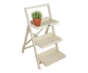 Escalera plegable para plantas Artemis – blanco