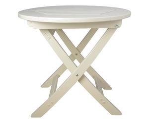 Mesa plegable redonda Artemis – blanco