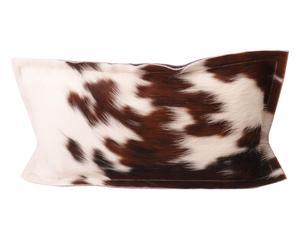 Cojín de piel de vaca Lorrie - 40x60 cm