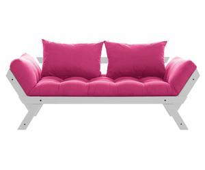Sofá convertible en cama Bebop - gris y rosa
