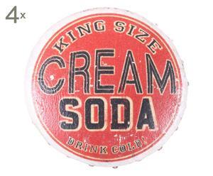 Set de 4 tiradores en metal Cream Soda