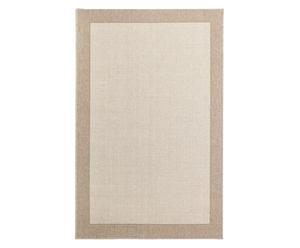 Alfombra de lana, yute y poliéster Bravo, beige - 133x195 cm