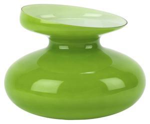 Jarrón de vidrio Ikebana, verde - Ø18cm