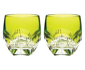 Set de 2 vasos de cristal Lime