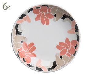 Set de 6 platos hondos Serena Dark, Ø 22 cm