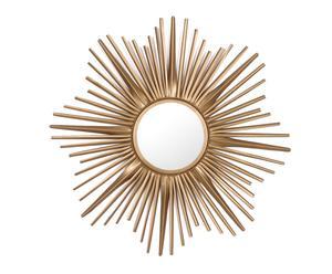 Espejo hecho a mano en hierro Melissa - dorado