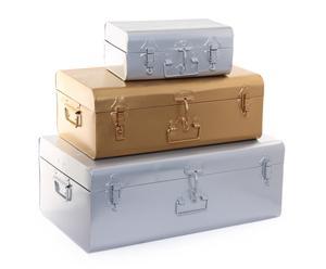 Set de 3 baúles de hierro Tilo