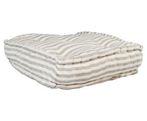 Cojín de suelo de algodón Puspa – gris y blanco