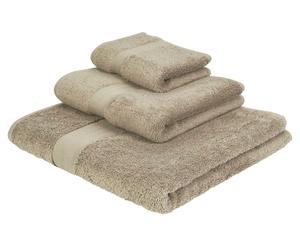 Juego de toallas Amy, gris - 3 piezas