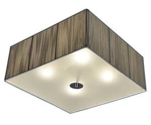 Lámpara de techo cuadrada Twine – plata