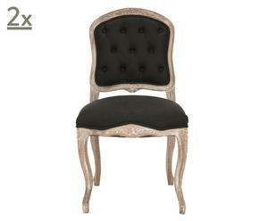 Set de 2 sillas de comedor Amy – negro
