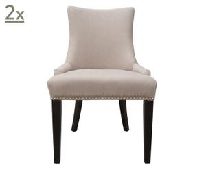 Set de 2 sillas de comedor Alessandra - gris pardo