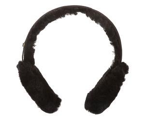 Orejeras / auriculares de piel de oveja y ante - negro