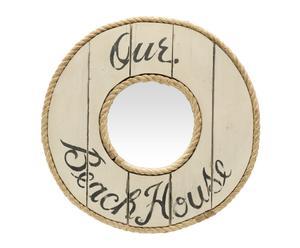 Espejo redondo de madera Our Beach House