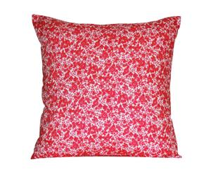 Funda de cojín cuadrada flores rojo – Grande
