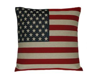 Funda de cojín Bandera USA