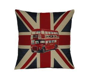 Funda de cojín bus inglés