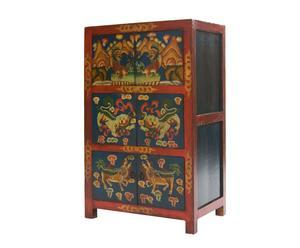 Armario tibetano negro – 6 puertas