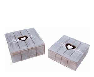 Set de cajas de madera