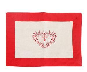 Mantel rojo y blanco
