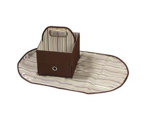 Organizador de pañales y toallitas - Marrón
