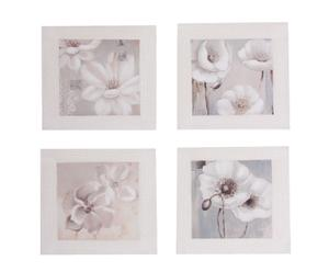 Set de 4 cuadros pintados a mano