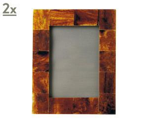 Set 2 marcos de fotos - marrón