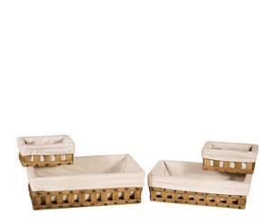 Set de 4 cestas cuadradas