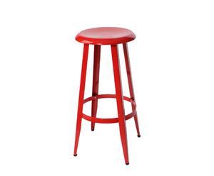 Taburete de acero – Rojo