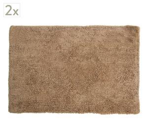 Set de 2  alfombras de baño - Beige