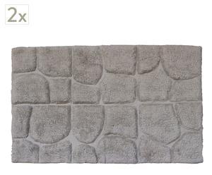 Set de 2  alfombras de baño - gris