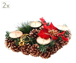 Set de 2 centros de Navidad