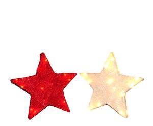Set de 2 luces estrellas navideñas