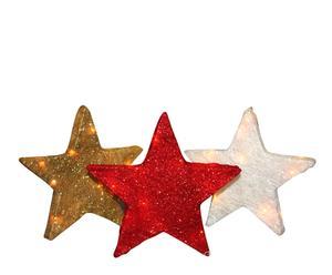 Set de 3 luces estrellas navideñas - multicolor