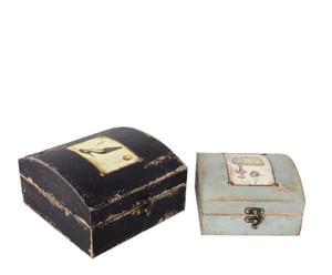 Set de 2 joyeros – Negro y azul